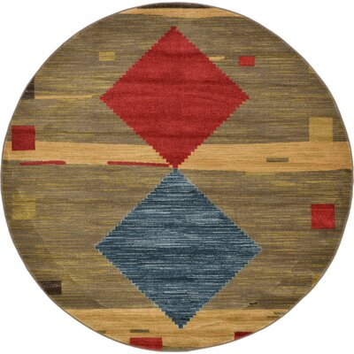 Jan Tan Area Rug Rug Size: Round 6