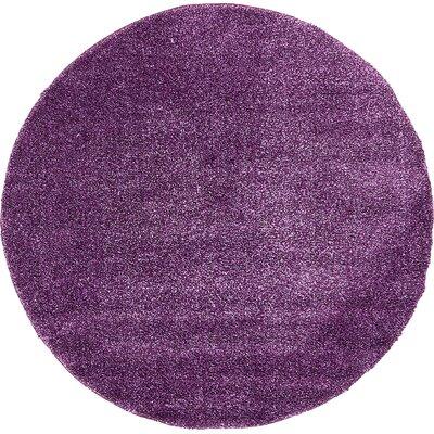 Truett Violet Area Rug Rug Size: Round 6