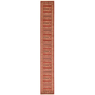 Foret Noire Rust Red Area Rug Rug Size: Rectangle 10 x 13