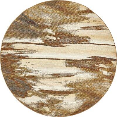 Skylar Brown Indoor/Outdoor Area Rug Rug Size: Round 8