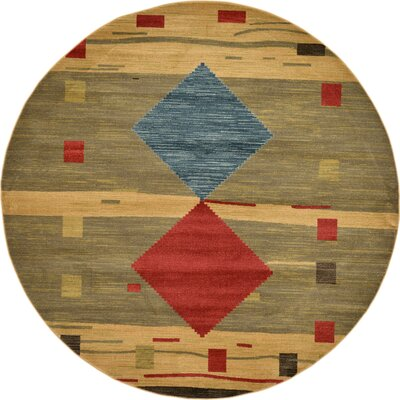Jan Tan Area Rug Rug Size: Round 8
