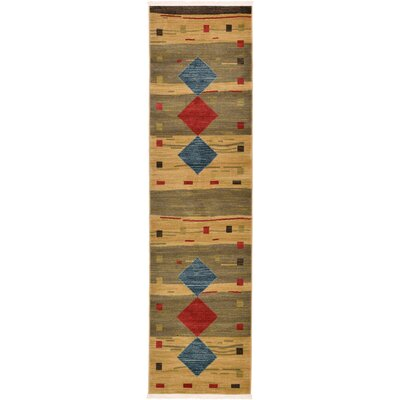 Jan Tan Area Rug Rug Size: Runner 10 x 3