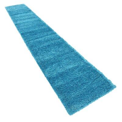 Truett Turquoise Area Rug Rug Size: Runner 22 x 13