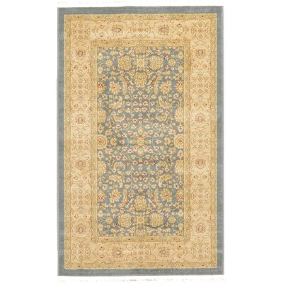 Willow Blue/Beige Area Rug Rug Size: 33 x 53
