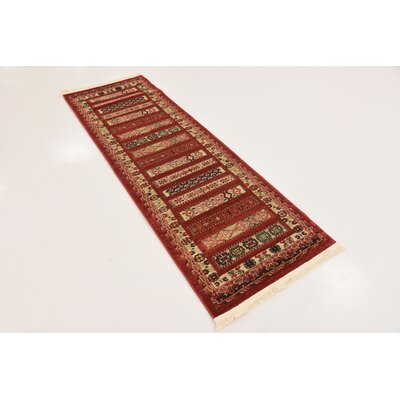 Foret Noire Rust Red Area Rug Rug Size: 5 x 8
