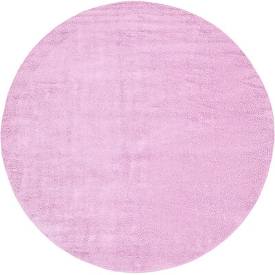 Maxine Lavender Area Rug Rug Size: Round 13