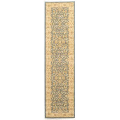 Willow Blue/Beige Area Rug Rug Size: Runner 27 x 10