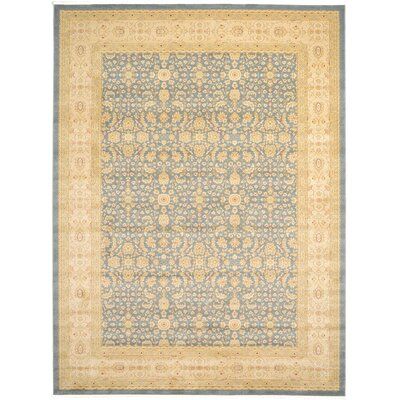 Willow Blue/Beige Area Rug Rug Size: 9 x 12