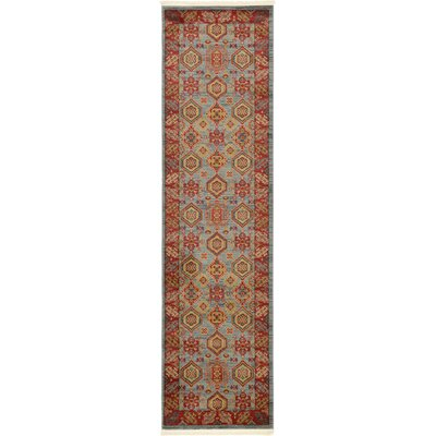 Valley Red Area Rug Rug Size: Runner 27 x 10
