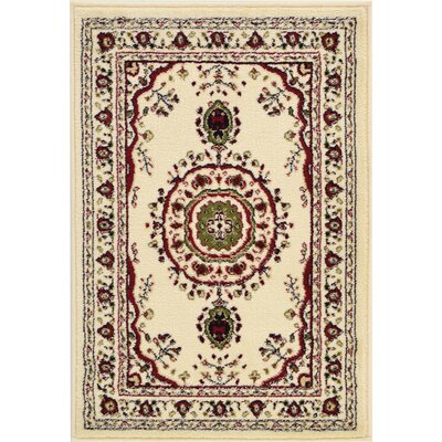 Essehoul Cream Area Rug Rug Size: Rectangle 5' x 8'