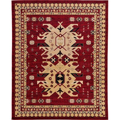Valley Red Area Rug Rug Size: 8 x 10