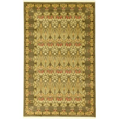 Willow Brown Area Rug Rug Size: Round 8