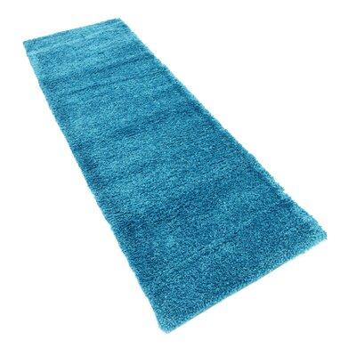 Truett Turquoise Area Rug Rug Size: Runner 22 x 67