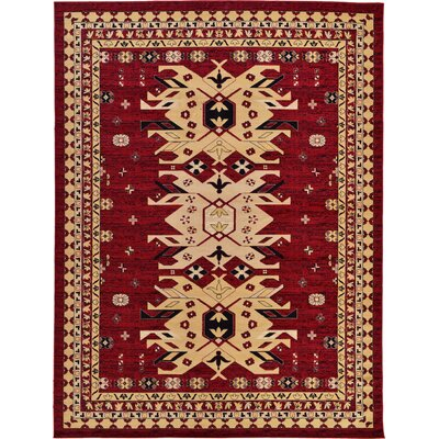 Valley Red Area Rug Rug Size: 9 x 12