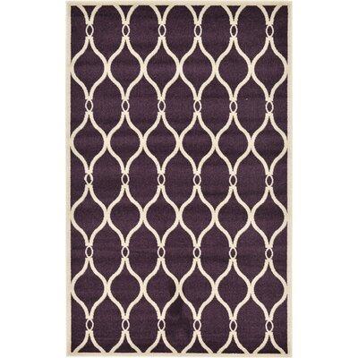 Moore Purple Area Rug Rug Size: 5' x 8'