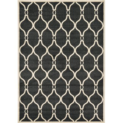 Molly Black Area Rug Rug Size: Rectangle 7 x 10