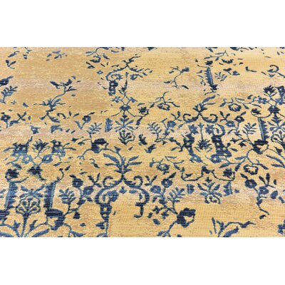 Eris Floral and Plants Beige Indoor/Outdoor Area Rug Rug Size: 10 x 12