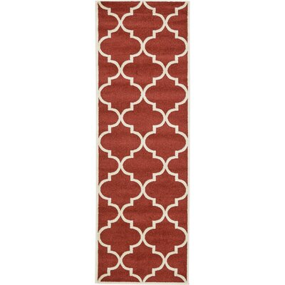 Moore Rust Red Area Rug Rug Size: Runner 27 x 8