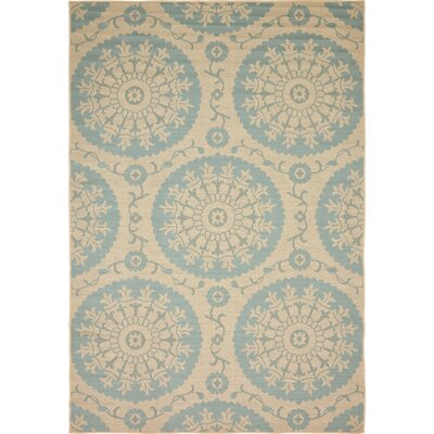 Rundell Beige Outdoor Area Rug Rug Size: Square 6
