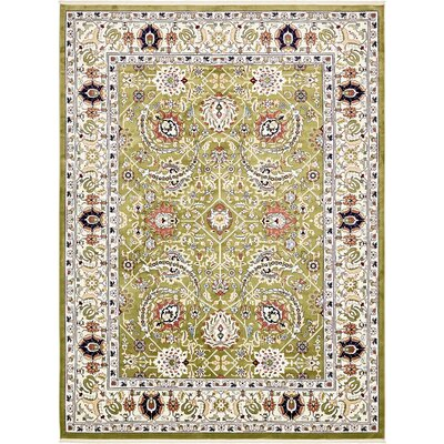 Jadyn Green/Tan Area Rug Rug Size: 5 x 8