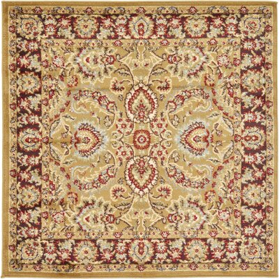Fairmount Tan Area Rug Rug Size: Square 4