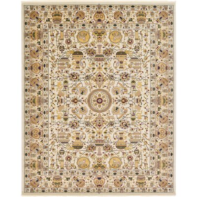 Altadena Ivory Area Rug Rug Size: Rectangle 5 x 77