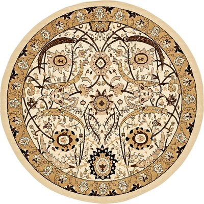 Antoinette Ivory Area Rug Rug Size: Round 8