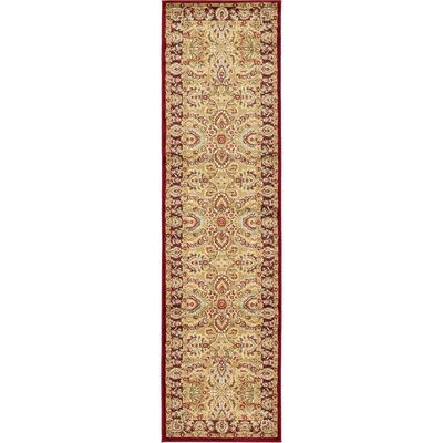 Fairmount Tan Oriental Area Rug Rug Size: Runner 27 x 10