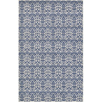 Alcera Blue Area Rug Rug Size: Rectangle 5 x 8
