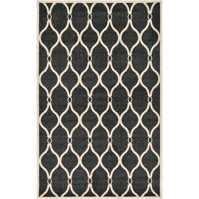Molly Black Area Rug Rug Size: 5 x 8