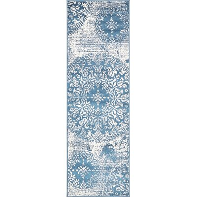 Brandt Blue Area Rug Rug Size: Runner 2 x 67