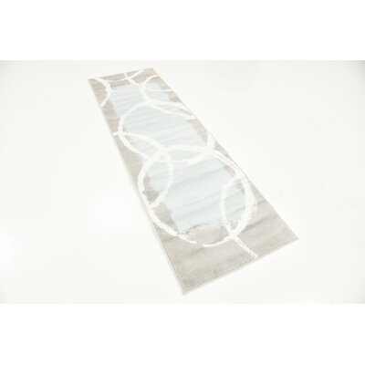 Sidney Light Blue Area Rug Rug Size: Rectangle 4 x 6