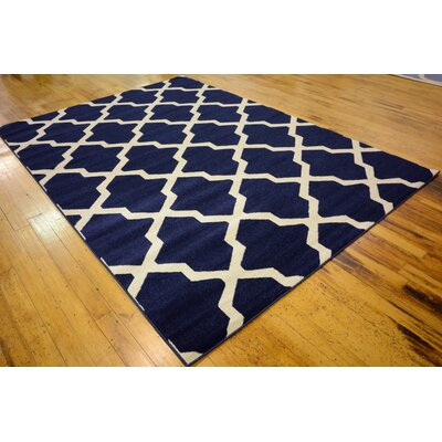 Moore Blue Area Rug Rug Size: 7 x 10