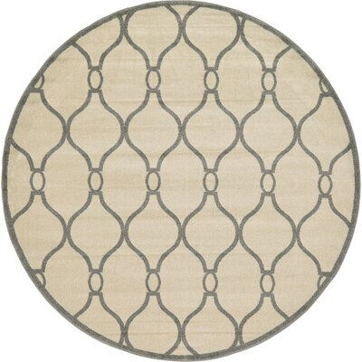 Molly Beige Area Rug Rug Size: Round 8