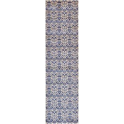 Alcera Blue Area Rug Rug Size: Runner 27 x 10