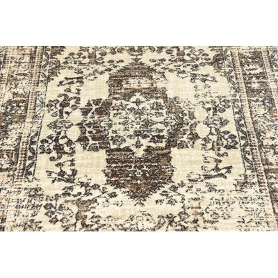 Geleen Beige/Brown Area Rug Rug Size: Rectangle 7 x 10