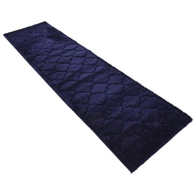 Millvale Navy Blue Area Rug Rug Size: Runner 27 x 10