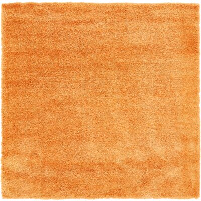 Evelyn Orange Area Rug Rug Size: Square 8