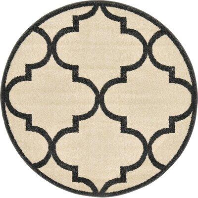 Moore Beige Area Rug Rug Size: 33 x 33