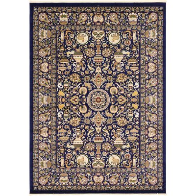 Altadena Navy Blue Area Rug Rug Size: Rectangle 5 x 77
