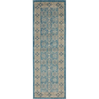 Jaiden Blue/Brown Area Rug Rug Size: 2 x 6