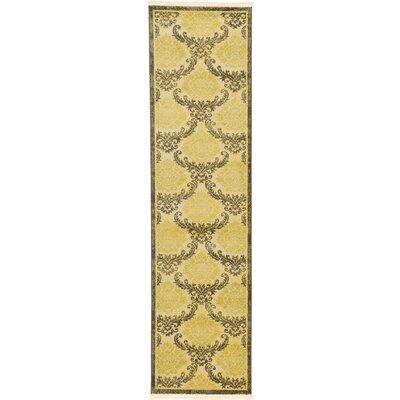 Ascencio Cream/Brown Area Rug Rug Size: Runner 27 x 10