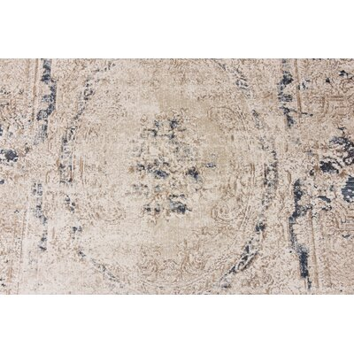 Abbeville Cream Area Rug Rug Size: Rectangle 9 x 12