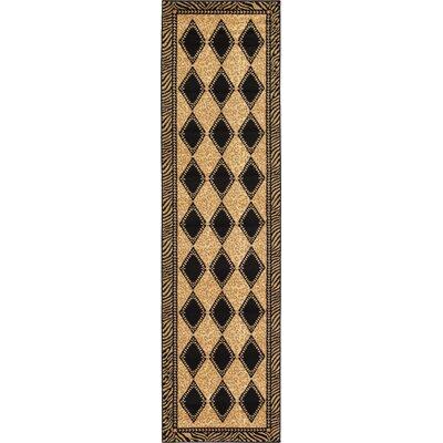 Jaina Light Brown Geometric Area Rug Rug Size: Runner 27 x 10
