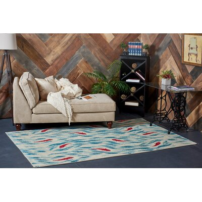 Jaliyah  Blue/Red Area Rug Rug Size: 3 x 5