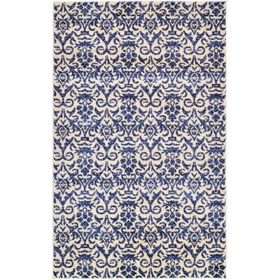 Alcera Blue Area Rug Rug Size: Rectangle 33 x 53