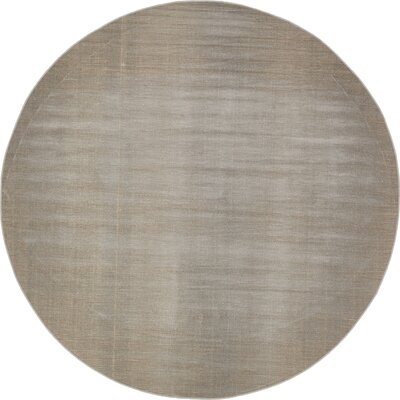 Gillam Gray Area Rug Rug Size: Round 5
