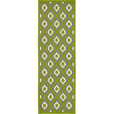 Marika Green Area Rug Rug Size: Runner 33 x 10