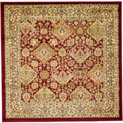 Fairmount Red Oriental Area Rug Rug Size: Square 4