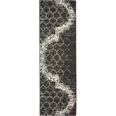 Steinbeck Charcoal Gray Area Rug Rug Size: Runner 2 x 6